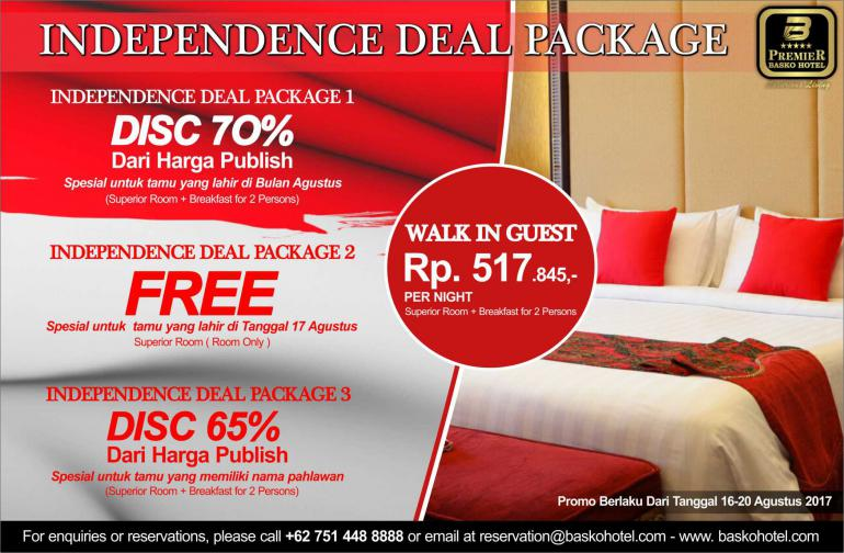 INDEPENDENCE DEAL PACKAGE